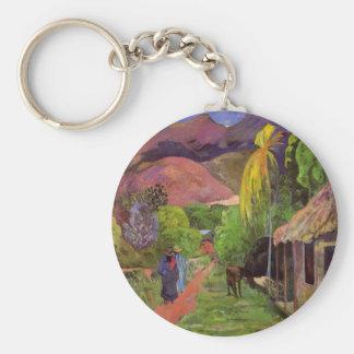 'Rue de Tahiti' - Paul Gauguin Keychain