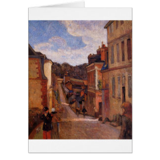 Rue Jouvenet, Rouen by Paul Gauguin Greeting Card