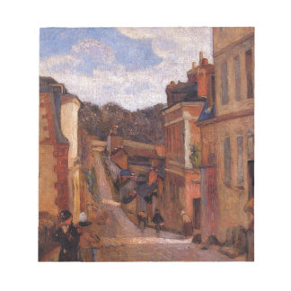 Rue Jouvenet, Rouen by Paul Gauguin Notepad
