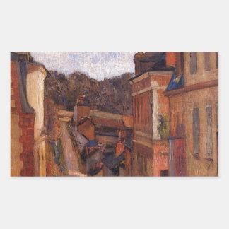 Rue Jouvenet, Rouen by Paul Gauguin Rectangular Sticker