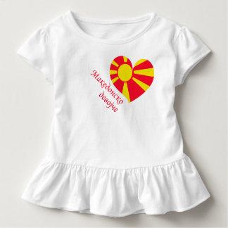 Ruffle tee Macedonian girl