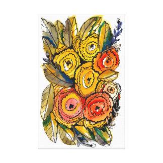 Ruffled Canvas Print