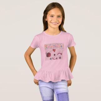 Ruffled pink shirt