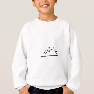 rugby egg fight player sweatshirt