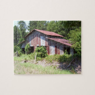 Rugged Barn Puzzle with Tin
