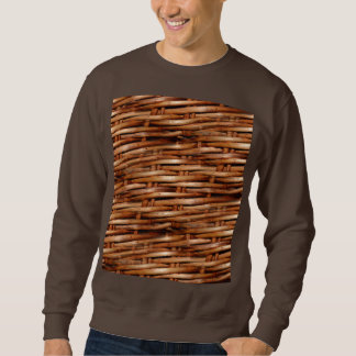 Rugged Wicker Basket Look Sweatshirt