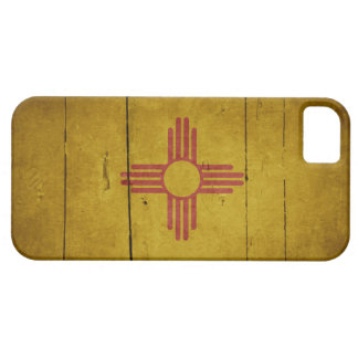 Rugged Wood New Mexico Flag iPhone 5 Case