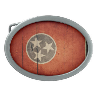 Rugged Wood Tennessee Flag Belt Buckles