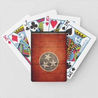 Rugged Wood Tennessee Flag Bicycle Poker Cards