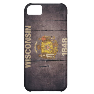 Rugged Wood Wisconsin Flag iPhone 5C Case