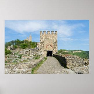 Ruined fortress in Veliko Tarnovo, Bulgaria Poster