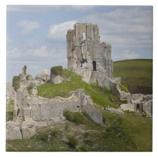 Ruins of Corfe Castle, near Wareham, Dorset, Tile