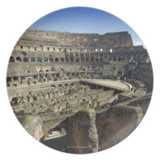Ruins of the Roman Colosseum, Rome, Italy Plate