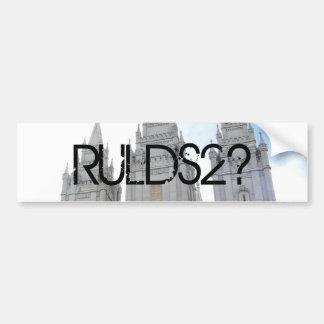 RULDS2? Salt Lake Temple Bumper Sticker