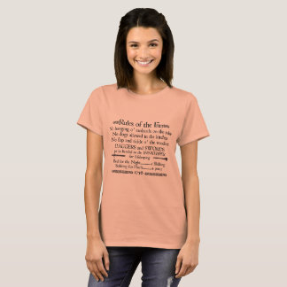 """Rules of the Inn"" 1756 Pub Sign T-Shirt"