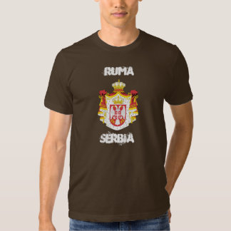 Ruma, Serbia with coat of arms T-shirts