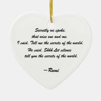 Rumi Quote Iris Ornament