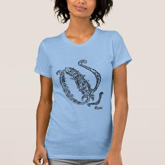 Rumi Verse Chameleon Calligraphy Tshirts