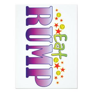 Rump Eat 14 Cm X 19 Cm Invitation Card
