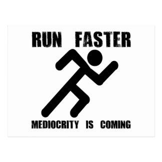 Run Faster Postcard