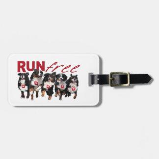 Run Free Berner luggage tags
