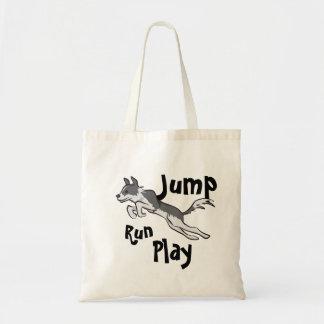 Run Jump Play Border Collie Tote Bag