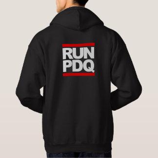 RUN PDQ - on back Hoodie
