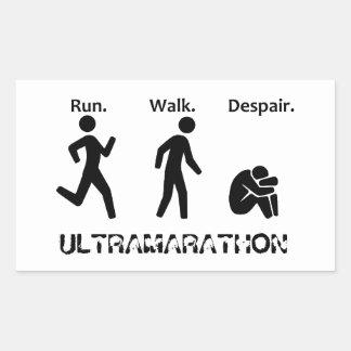 Run Walk Despair Rectangular Sticker