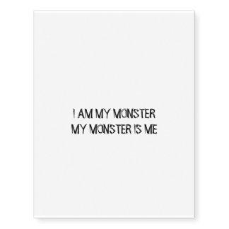 Rune Alexander's Monster quote Tattoo