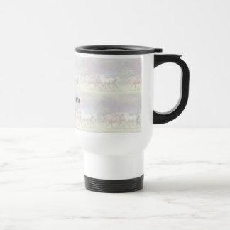 Running Arabian Horses Personalized Travel Mug