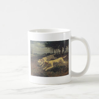 Running dogs by Constant Troyon Coffee Mug