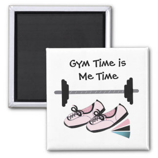 Running Shoes with Barbell Fridge Magnet