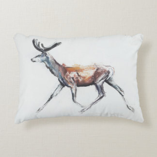 Running Stag in velvet Polsen 2006 Decorative Cushion