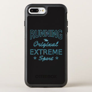RUNNING, the original extreme sport (blue neon) OtterBox Symmetry iPhone 8 Plus/7 Plus Case