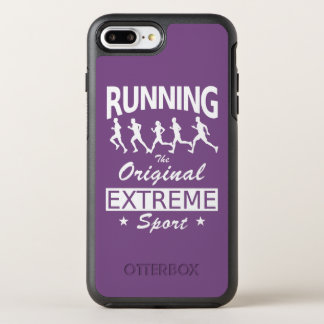 RUNNING, the original extreme sport (wht) OtterBox Symmetry iPhone 8 Plus/7 Plus Case