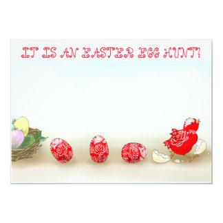 Runs away Easter egg invitation