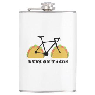 Runs On Tacos Hip Flask