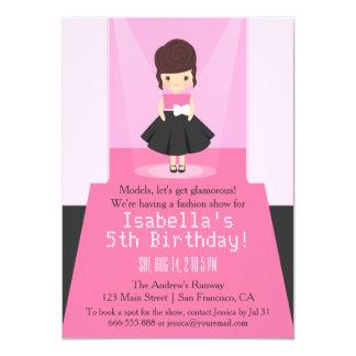 Runway Fashion Show Birthday Party Invitations