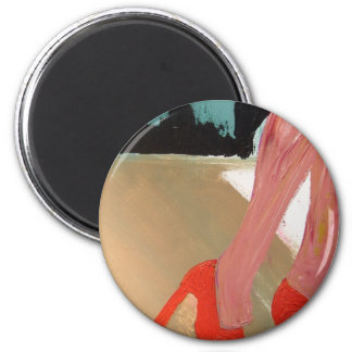 Runway Red Shoes 6 Cm Round Magnet