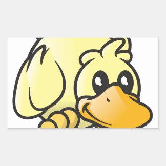 Rupert the Duck Rectangular Sticker