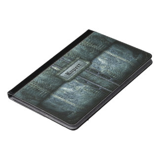 Ruperts Classic Bleu Old Book Style Monogram iPad Air Case