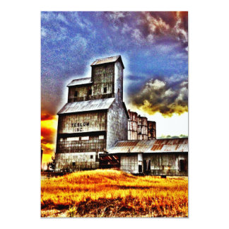 Rural Montana Country Grain Elevator Farmers Gift Card