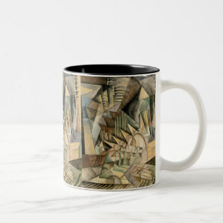 Rush Hour, New York by Max Weber, Vintage Cubism Two-Tone Coffee Mug
