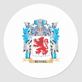 Russel Coat of Arms - Family Crest Round Sticker