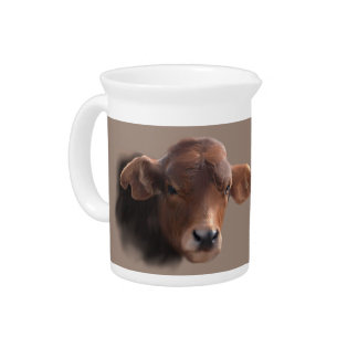 Russet Brown Cow Pitcher