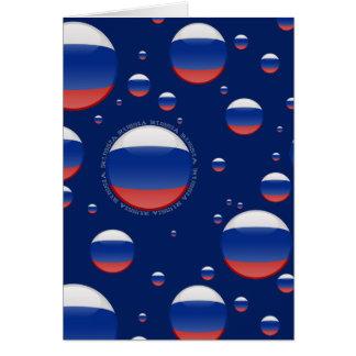 Russia Bubble Flag Card