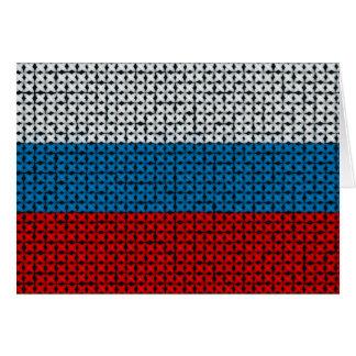RUSSIA FLAG CARD