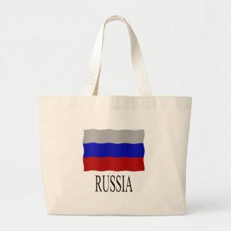 Russia flag jumbo tote bag