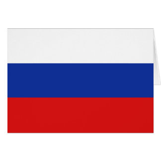 Russia Flag Notecard