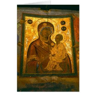 Russia, Novgorod Province, Tikhvin Monastery, Card